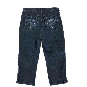 NYDJ Jeans - NYDJ Cropped Capri Pants Jeans Sz 12 Stretch Dark